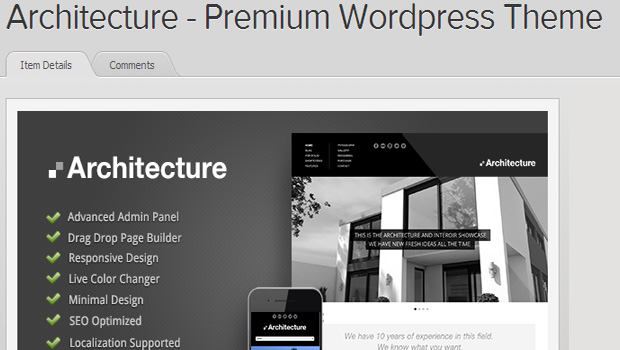 Responsive architecture wordpress themes 2013 for Architecture wordpress