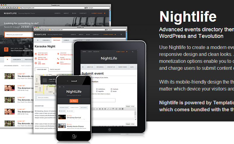 Nightlife Responsive