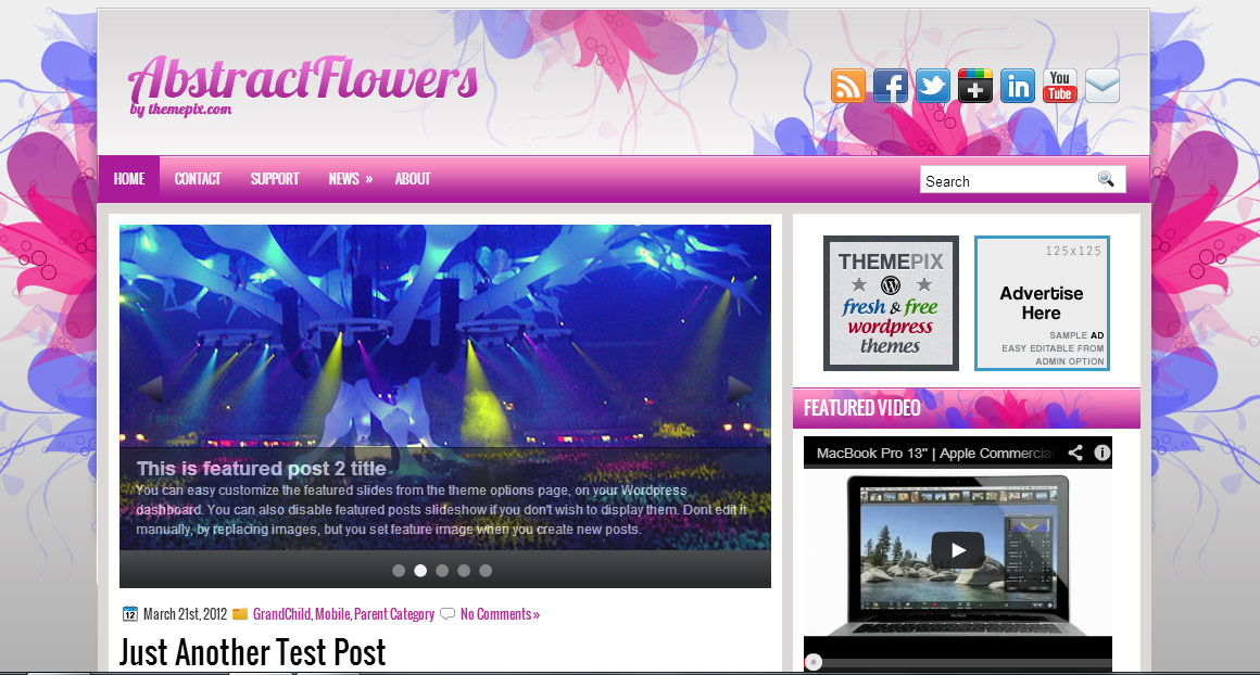 Abstract Flowers - Abstract WordPress Themes