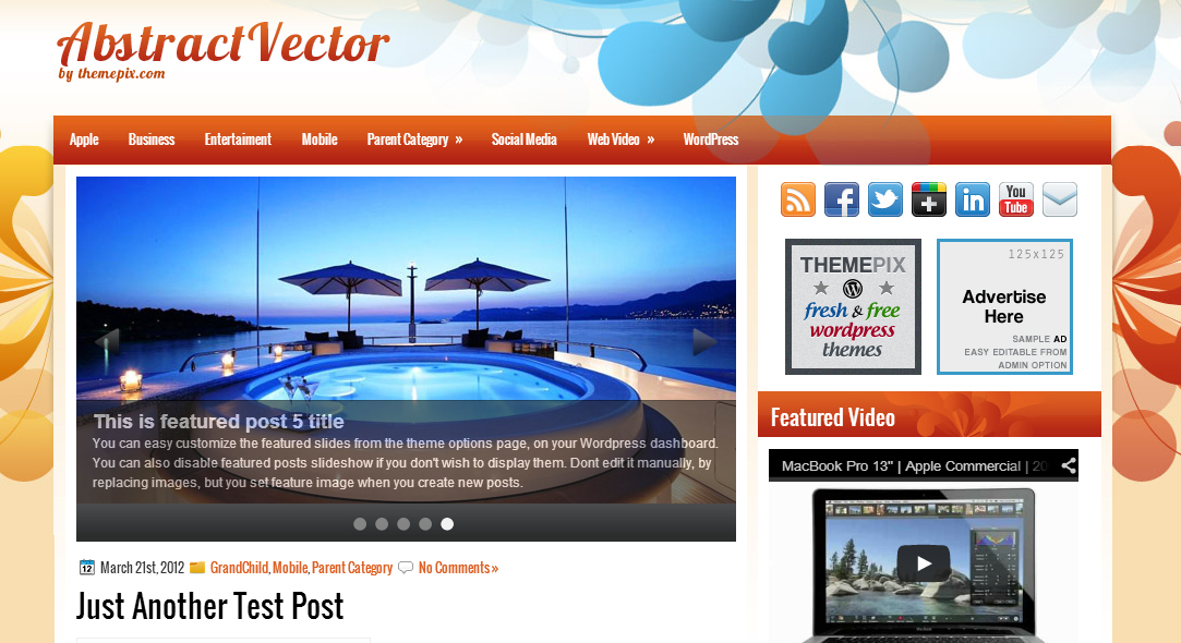 Abstract vector -  Abstract WordPress Theme