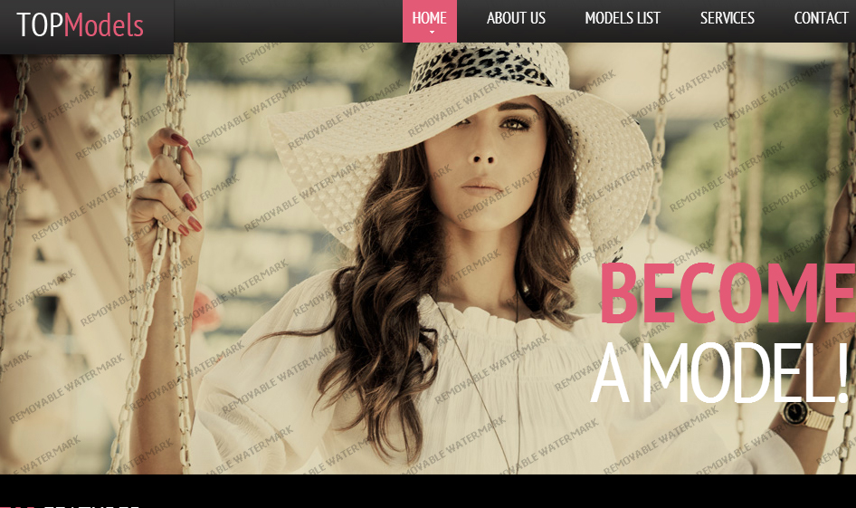 Black Model Agency Website Template