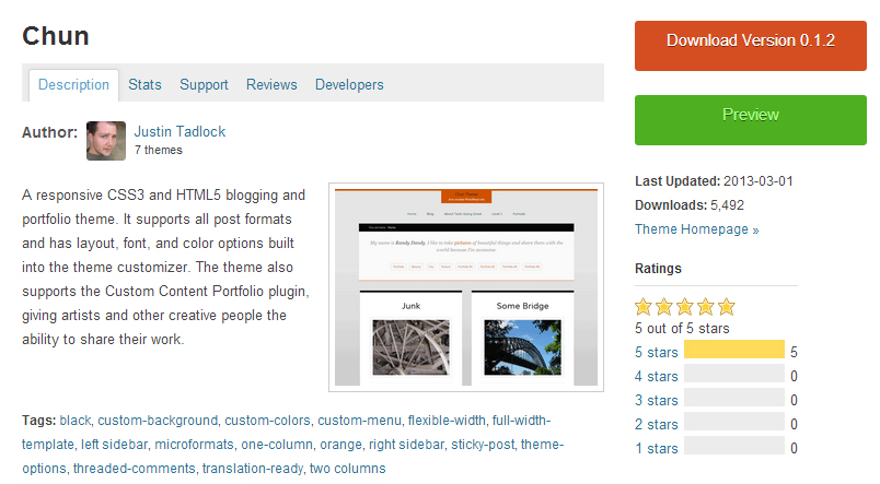 Chun- Authors WordPress Theme
