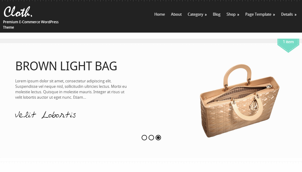 Cloth - Responsive Retail WordPress Theme