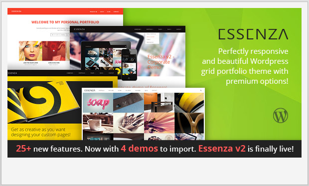 Essenza -Responsive Grid WordPress Theme