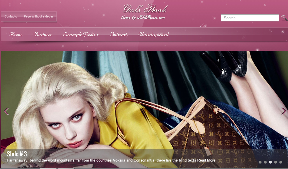 GirlsBook - Fashion WordPress Themes