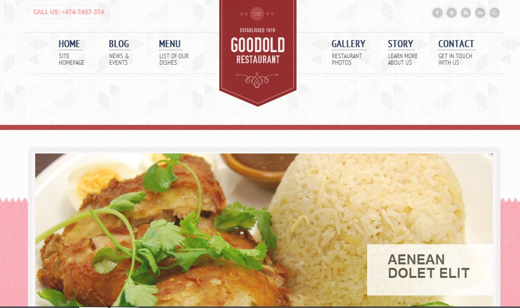 Goodold Restaurant - Restaurant WordPress Themes