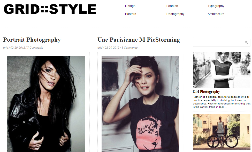 Grid Style - Grid Style WordPress Themes