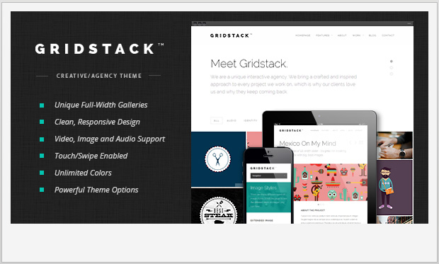 GridStack -Responsive Grid WordPress Theme