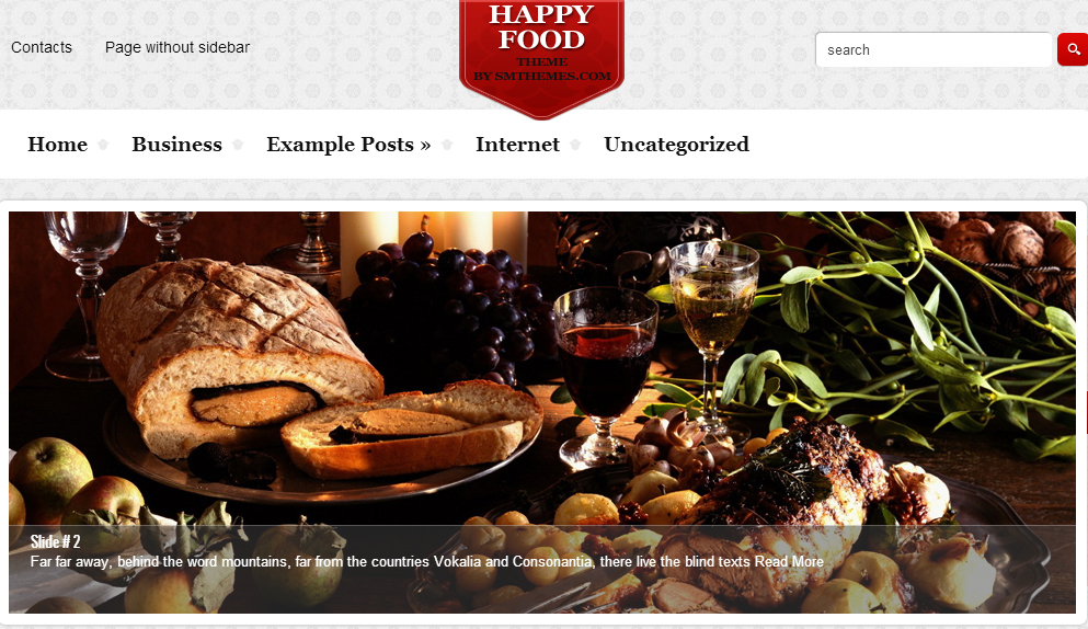 HappyFood - Restaurant WordPress Themes