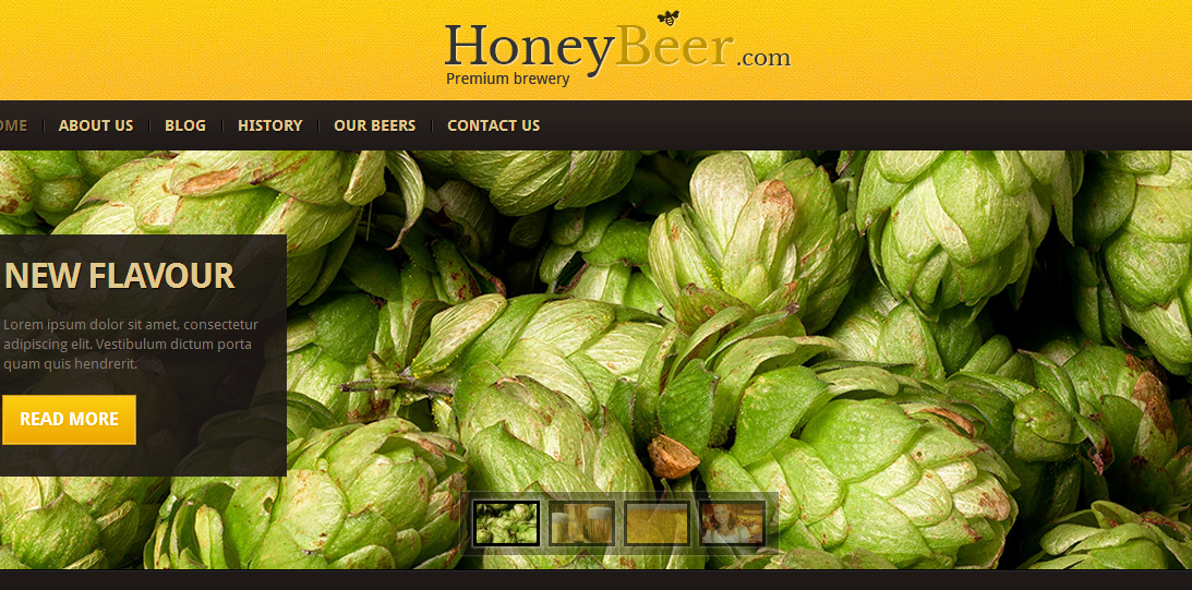 HoneyBeer - Elegant Responsive WordPress Theme