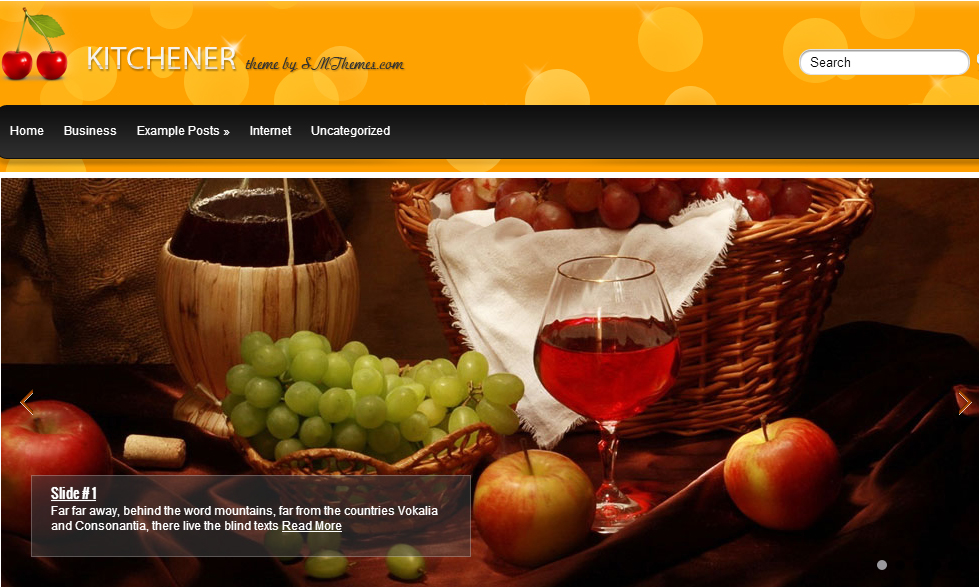 Kitchener - Restaurant WordPress Themes