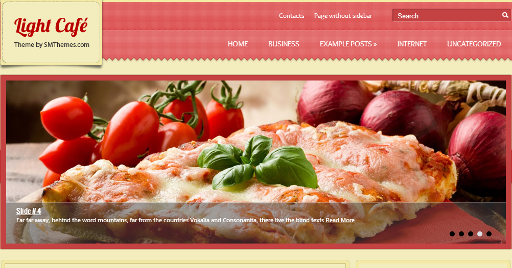 LightCafe - Restaurant WordPress Themes