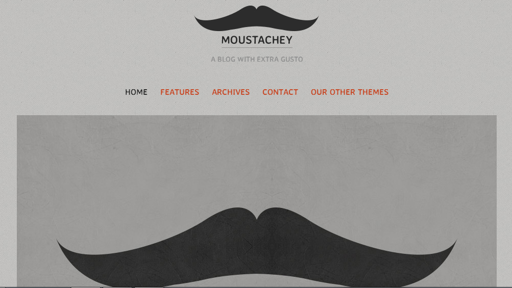 Moustachey - Authors WordPress Themes