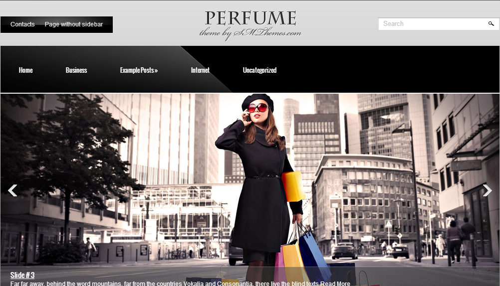 Perfume - Fashion WordPress Themes