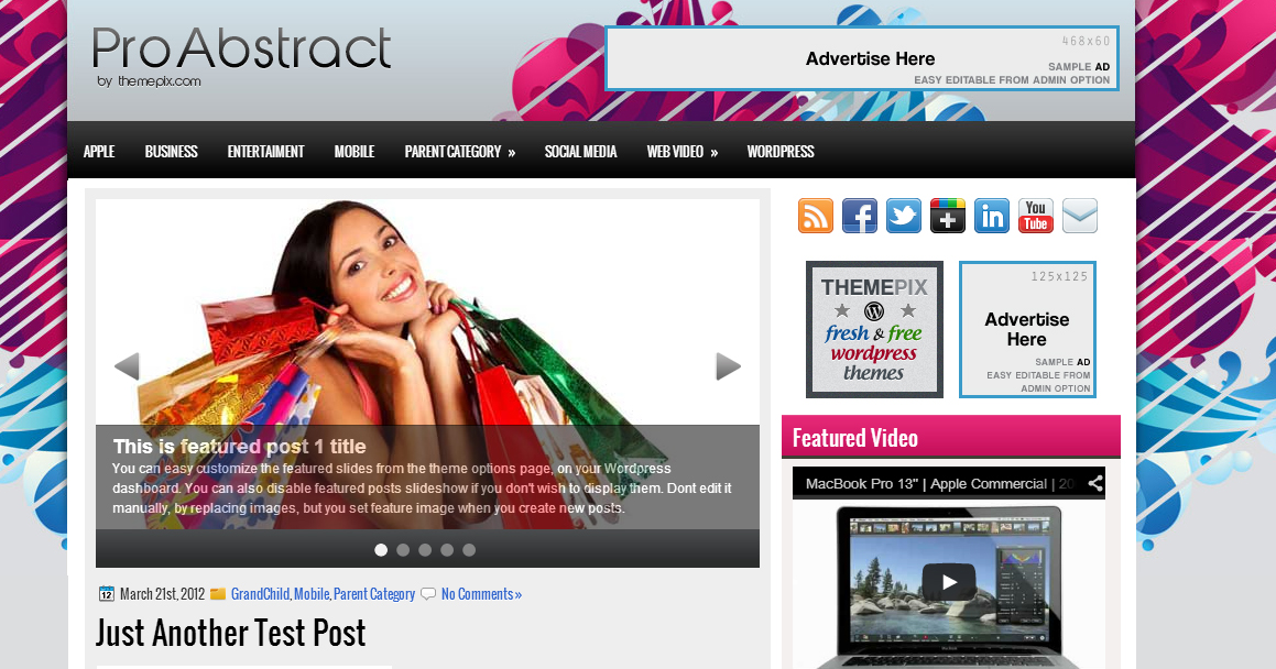 Pro Abstract - Abstract WordPress Themes