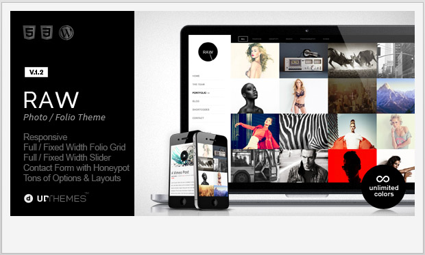 Raw -Responsive Grid WordPress Theme