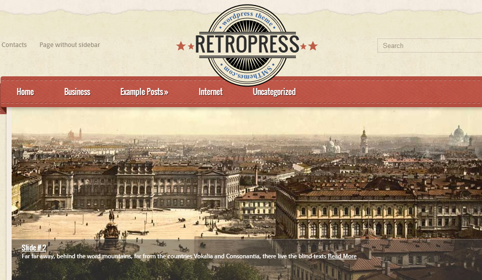 RetroPress - Fashion WordPress Themes