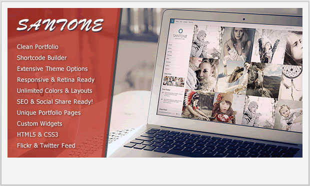 Santone -Responsive Grid WordPress Theme