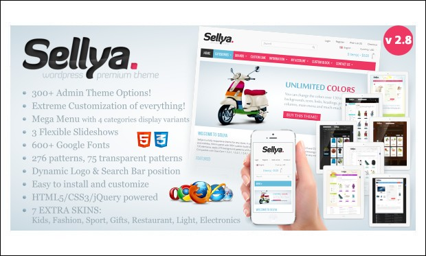 Sellya - Retail WordPress Themes
