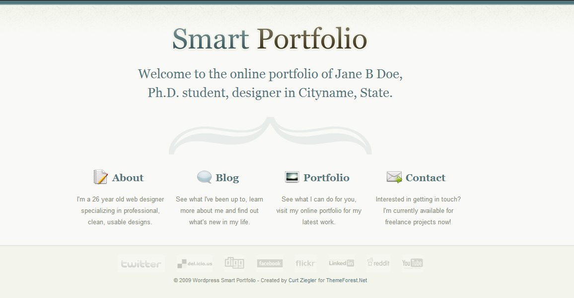 Smart - Authors WordPress Themes