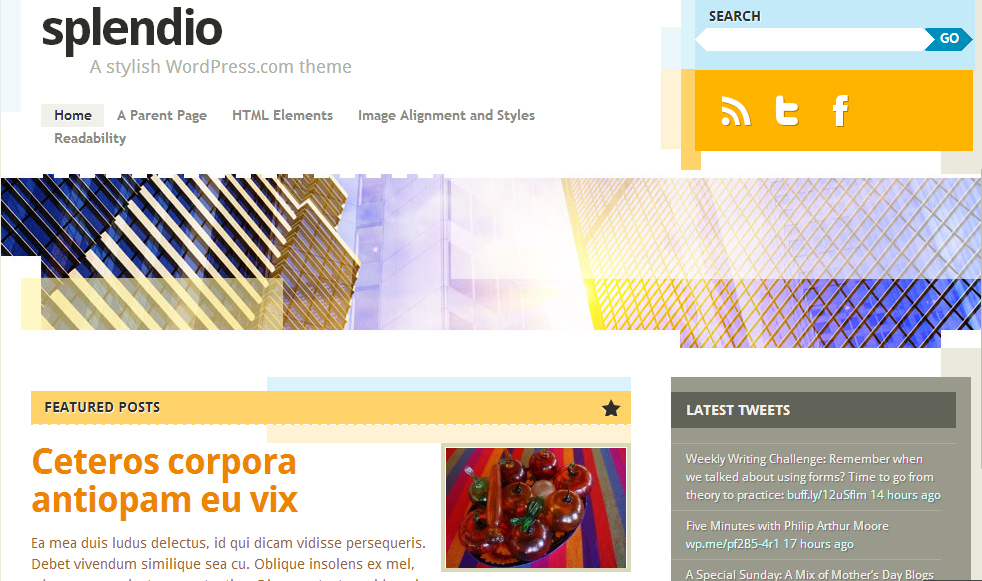Splendio - Abstract WordPress Theme