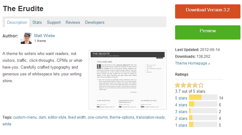 The Erudite - Authors WordPress Theme