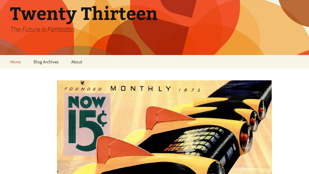 Twenty Thirteen - Abstract WordPress Theme