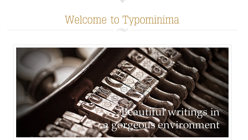 Typominimum -  Authors WordPress Theme
