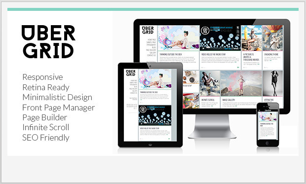 Ubergrid -Responsive Grid WordPress Theme