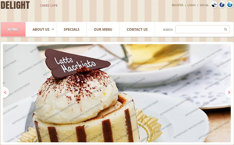 White Cafe Website Template