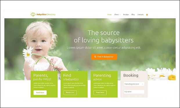 Babysitter - Baby Blog WordPress Themes