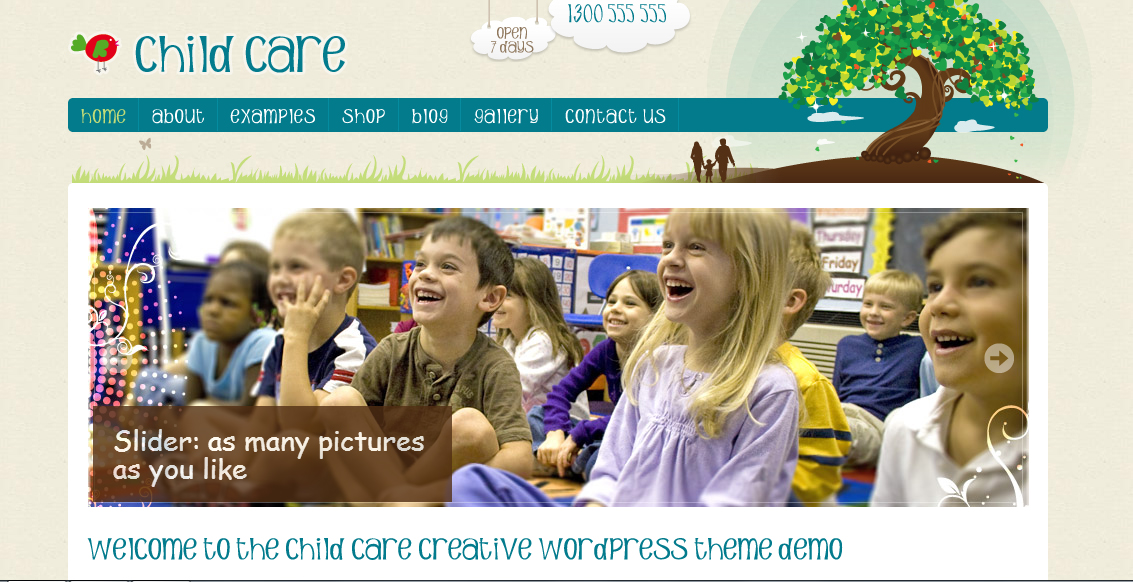 Child Care Creative from ThemeForest