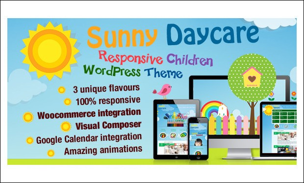 Daycare - Baby Blog WordPress Themes