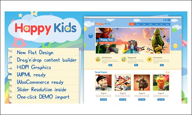 Happy Kids - Baby Blog WordPress Themes