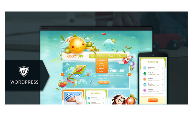 KIDDO TURF - Baby Blog WordPress Themes