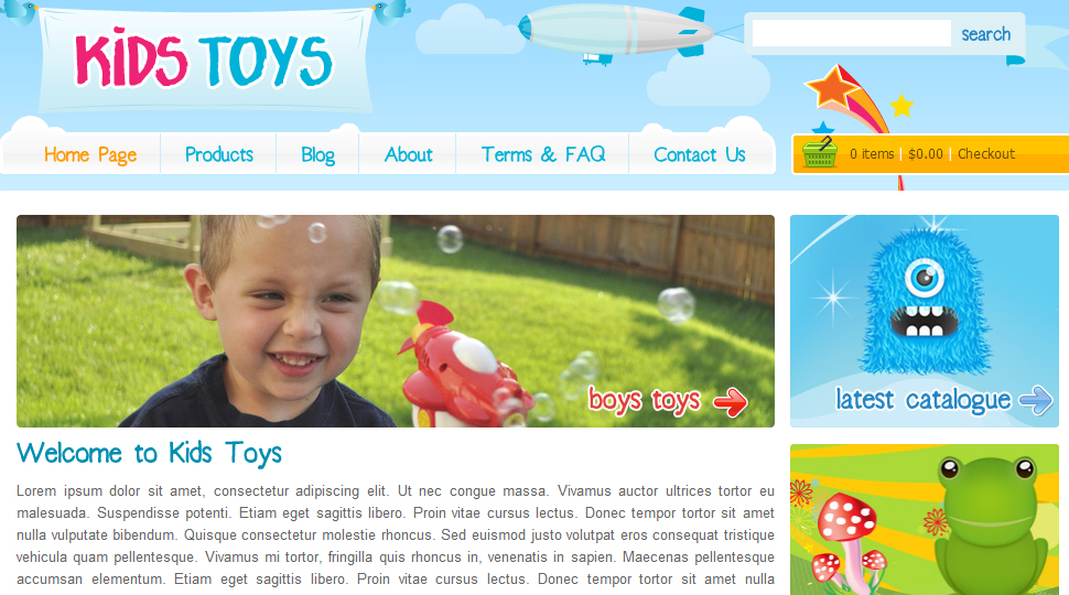 Kids Toys from ThemeForest