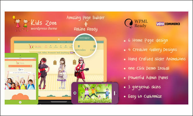Kids Zone - Baby Blog WordPress Themes