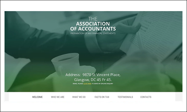 Accountant - Accounting & Auditing Websites WordPress Themes