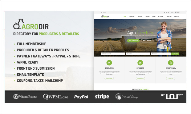 Agrodir - WordPress Responsive Agriculture Themes