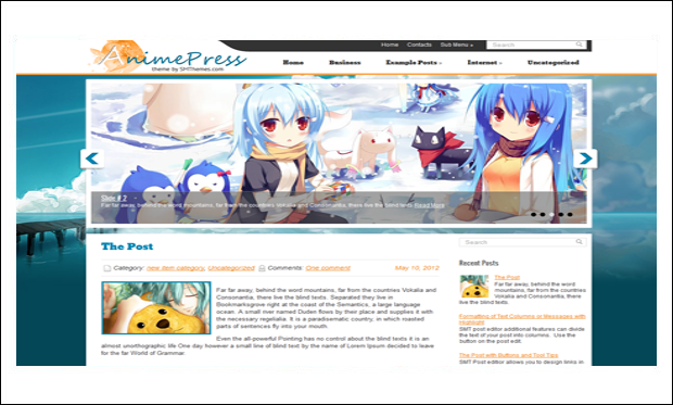 AnimePress - Cartoon WordPress Responsive Themes
