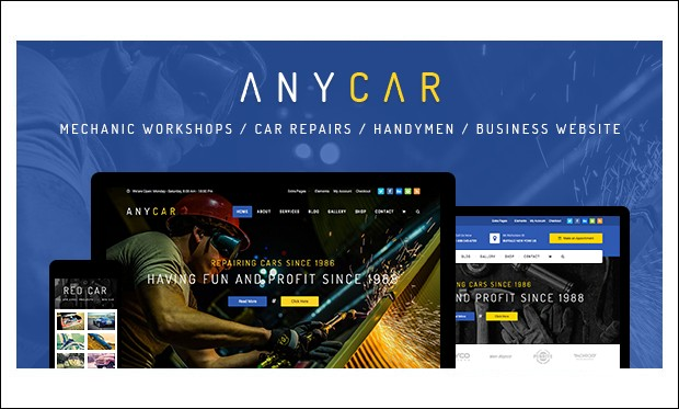 AnyCar - WordPress Automotive and Automobile Themes