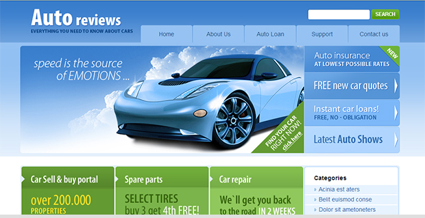 Auto Reviews - WordPress Responsive Automotive & Automobile Theme