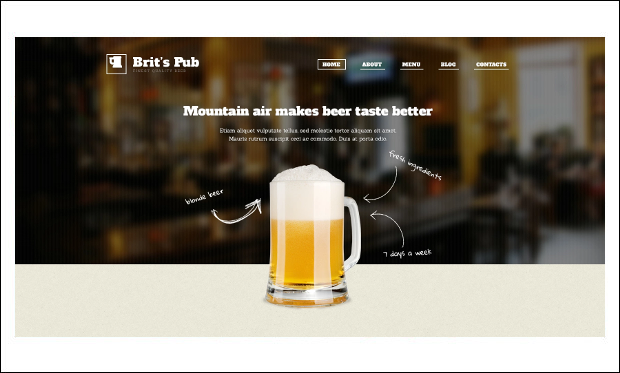 Beer Pub - Beautiful Bar WordPress Responsive Themes