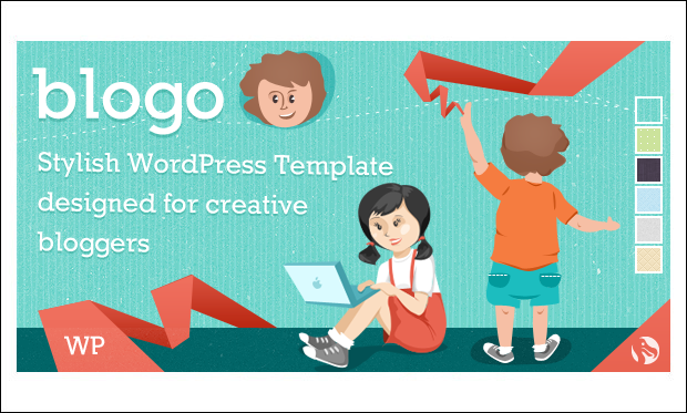 Blogo - Cartoon WordPress Responsive Themes