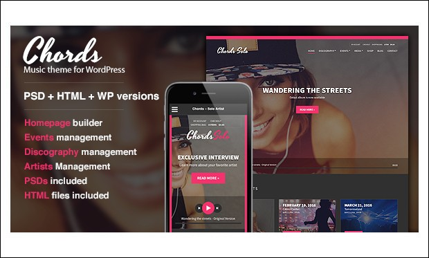 Chords - Music - Band WordPress Themes