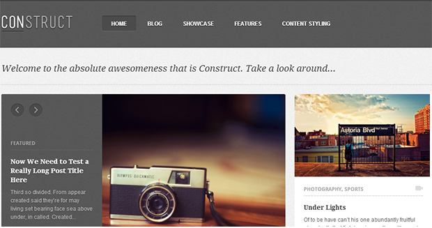 Construct - WordPress Responsive Animated Theme