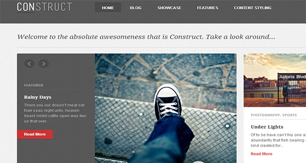Construct WordPress theme