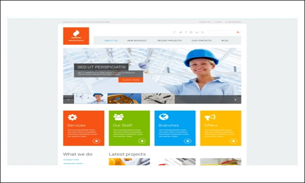 Construction Co - WordPress Theme for Construction Company