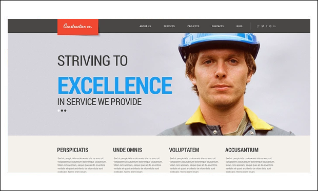Construction Projects - WordPress Theme for Construction Company