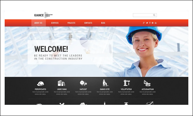 Effective Construction - WordPress Theme for Construction Company